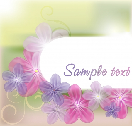 Bright floral background Illustration