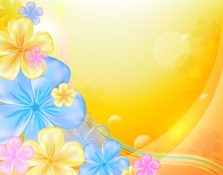 Bright floral background, eps 10 format