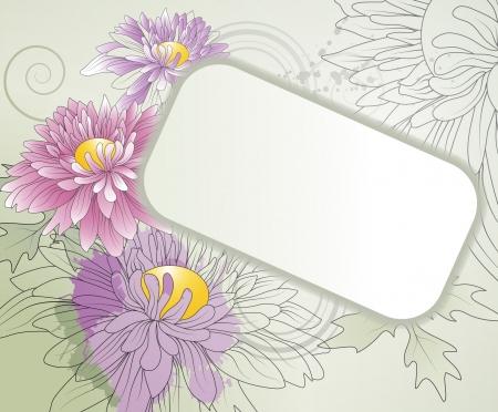 golden daisy: fondo floral con crisantemos Vectores
