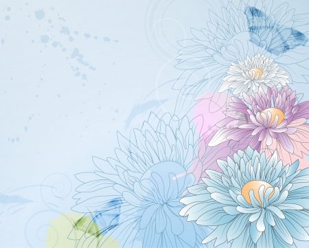 floral background with chrysanthemums,eps10 format  Vector