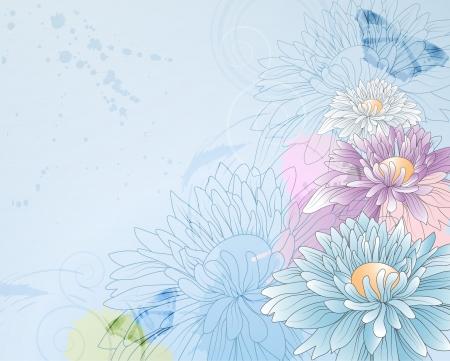golden daisy: fondo floral con crisantemos, eps10 formato