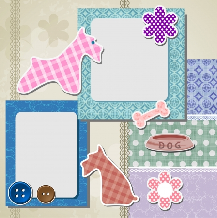 Holiday scrapbook elements 일러스트