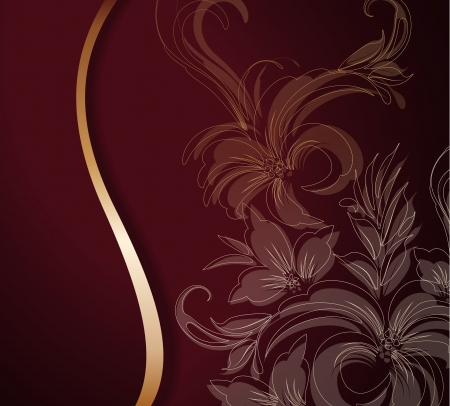 Decorative golden floral background