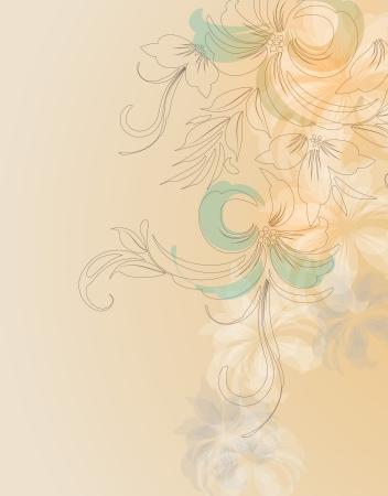 Elegant floral background  Format  Vector