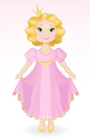 Smiling Princess  in a  ball dress Vector