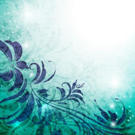 elegantly: Elegantly floral background