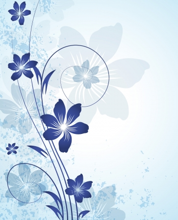 scroll shape: Floral abstract background