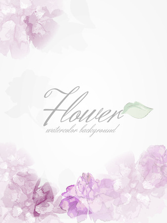 Watercolor flowers peonies with transparent elements.