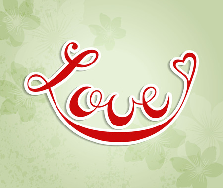 hand lettering: Original hand lettering specially for Valentines day