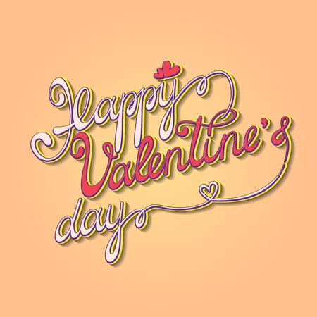 발렌타인 데이 전용 핸드 레터링