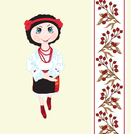 Vector illustration handmade doll