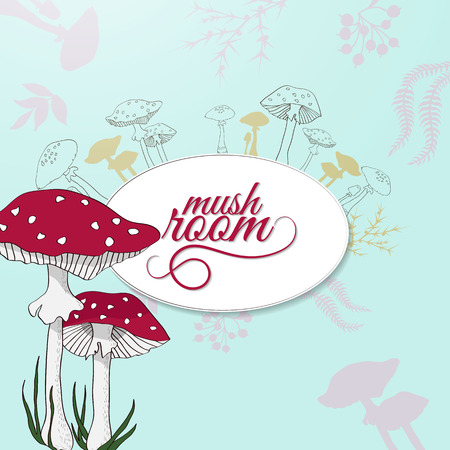 illustration with mushroom Illustration