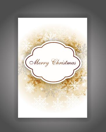 텍스트에 대 한 장소 우아한 크리스마스 카드 일러스트