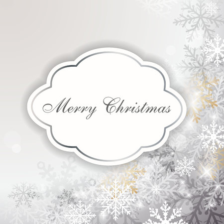 Elegant Christmas card with place for text