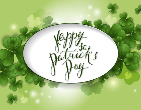 St. Patrick's Day greeting. Vector illustration Illusztráció