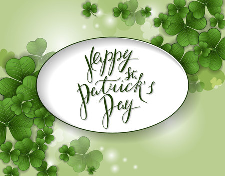 St. Patrick's Day greeting. Vector illustration 일러스트