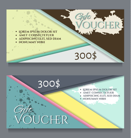 Gift certificate template.Vector illustration. Illusztráció