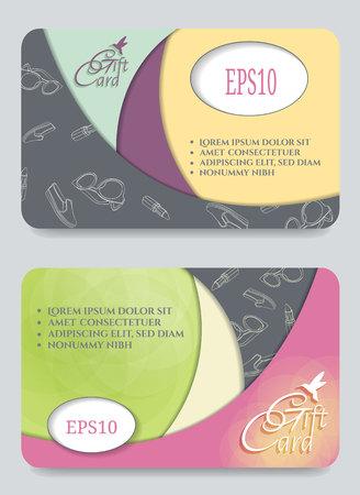 Gift certificate template.Vector illustration. Illustration