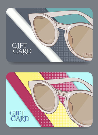 Gift certificate template.Vector illustration. 일러스트