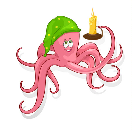 Fun vector illustration of an octopus. EPS10
