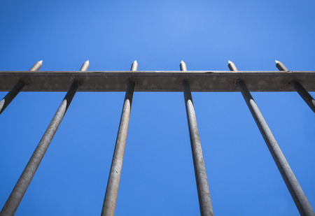 Arrow Fence for protection Stock Photo