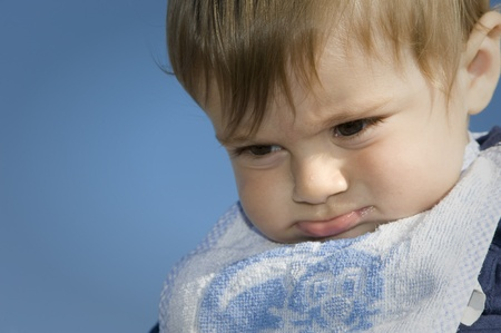 grudge: child with a grudge Stock Photo