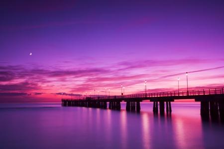 Pier at sunset Standard-Bild