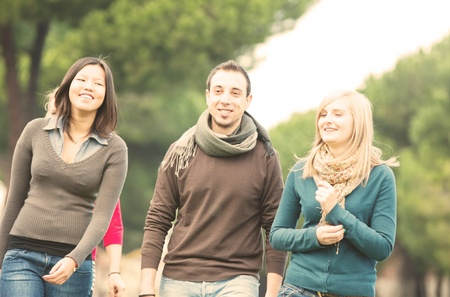 A group of Multicultural College Students Stock Photo - 11510991