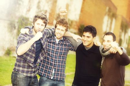 Group of Boys Outside,Italy ,Tuscany photo