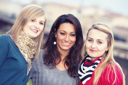 Three Women Chatting Outdoor tuscany ,italy