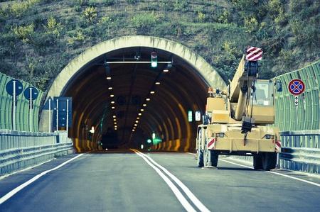 Tunnel construction site italy Standard-Bild