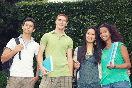 Multicultural Group of College Students,Italy photo