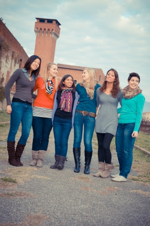 Multicultural Group of Woman , Italy photo