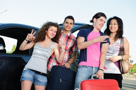 Friends Ready for Vacations,Italy Stock Photo