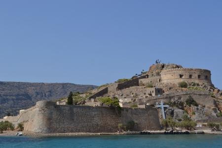 lepra: Spinalonga isla de Creta Foto de archivo