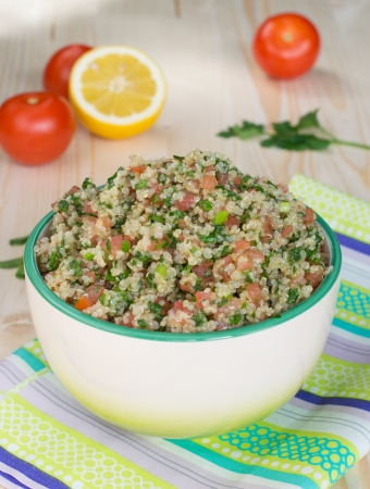 Vegetarian salad - tabouli with quinoa  photo