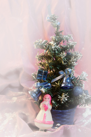 snegurochka: Spruce on a different background to postcards and congratulations to the new year and Christmas