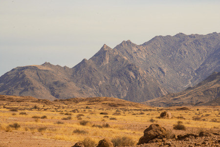 view from the road to African red mountains