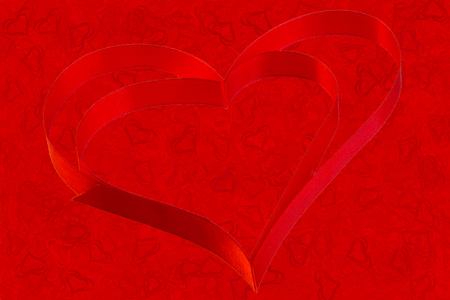 Red Background Of Red Hearts For Screensavers And Postcards And