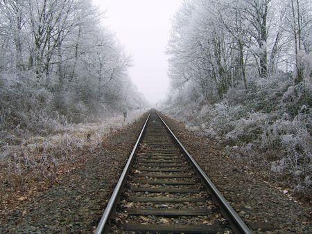 nowhere: Railway to nowhere Stock Photo