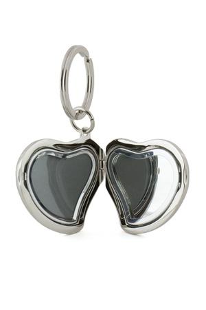 keychain: Gift keychain in heart shape  Stock Photo