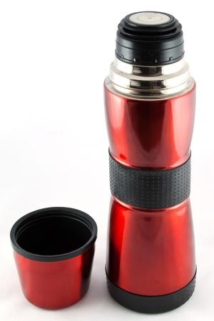 red metal Vacuum flask