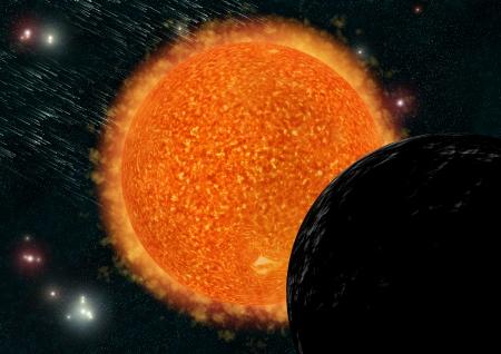 Sun in space photo