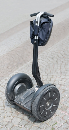 two wheel: Alternative vehicle - electric scooter Stock Photo