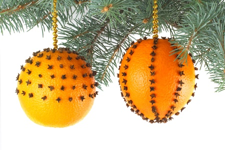 christmas decorations made from fresh oranges stock photo 16755306