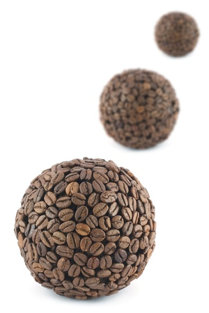 Coffee balls isolated on white Stock Photo - 16756050