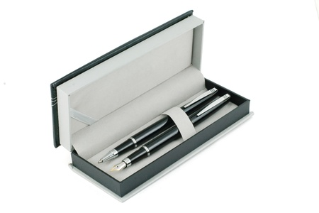 Pens in a box Stock Photo - 16885387