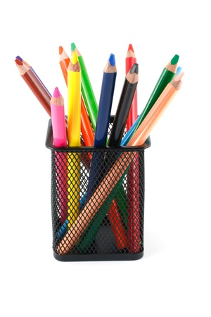 Watercolor crayons in a box Stock Photo - 16885489