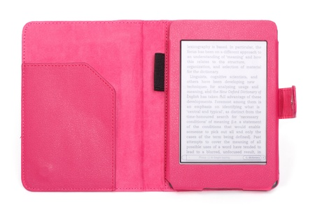 e-book with a pink cover photo