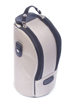 Light bag to carry a telephoto lens with zippers isolated Stock Photo - 18305390